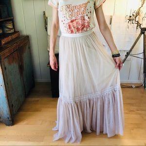 ♥️ Thread & Needle ♥️ Beige Tulle Maxi Skirt